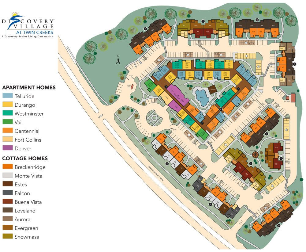 Allen TX senior living community site plan
