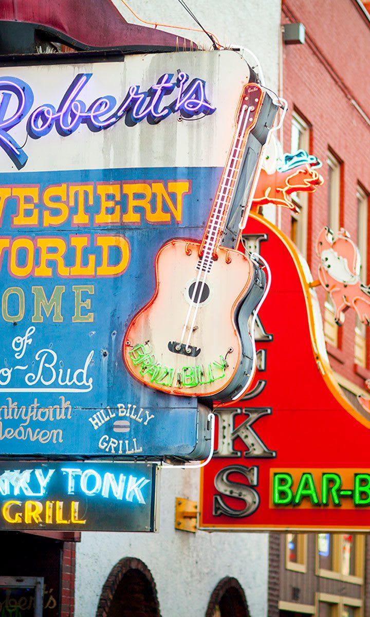 Signage in Nashville near West End Village