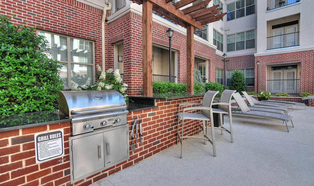 Grilling area at West End Village in Nashville, TN