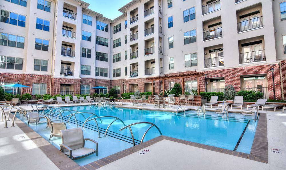 Poolside at West End Village in Nashville, TN