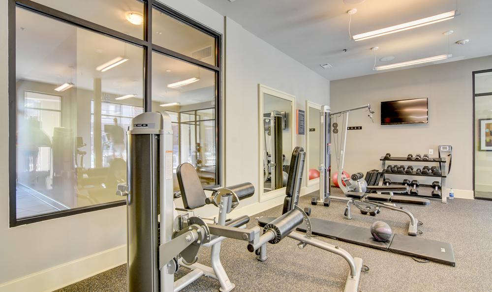 Fitness center at West End Village in Nashville, TN