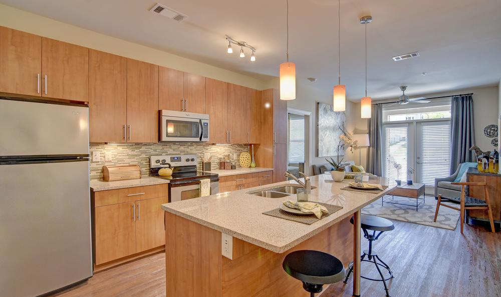 Ample kitchen space at West End Village in Nashville, TN
