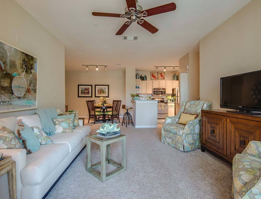 Living room area at Legacy on the Bay in Destin