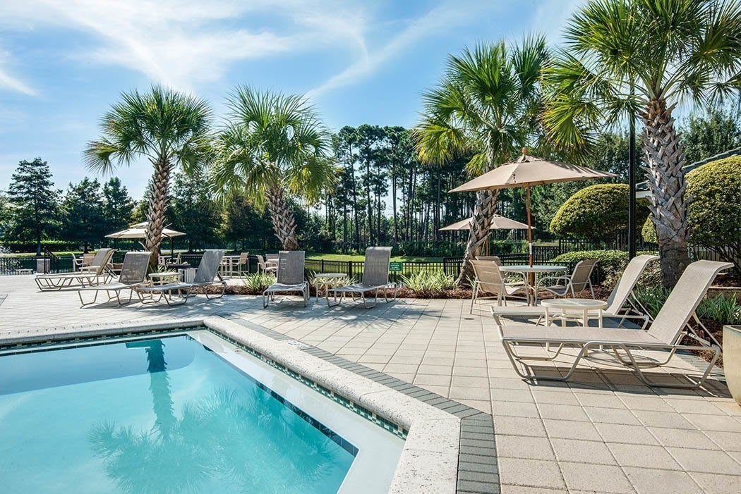 Beautiful pool at Legacy on the Bay in Destin
