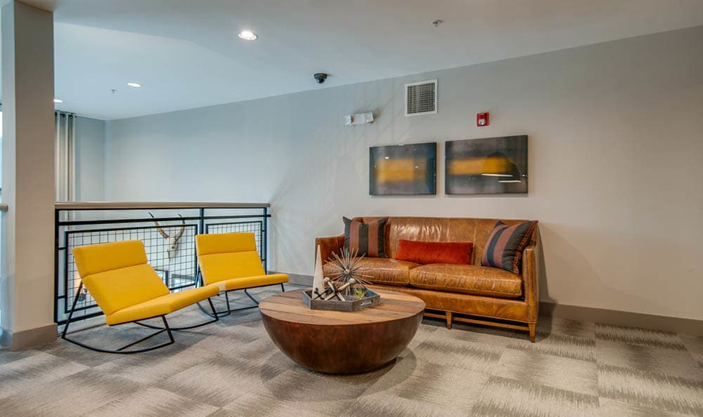 Clubhouse Lounge Area At Block Lofts
