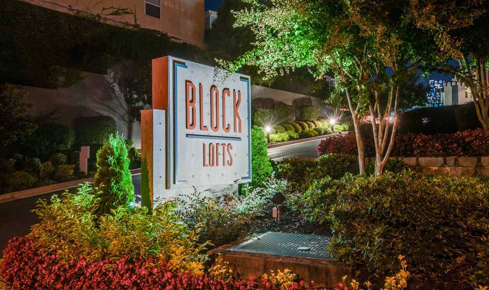 Block Lofts Property Sign in Atlanta, GA