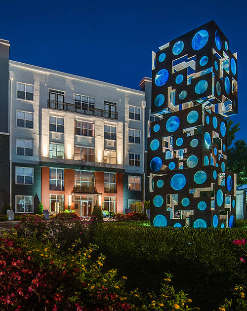 Exterior sculpture at Block Lofts in Atlanta