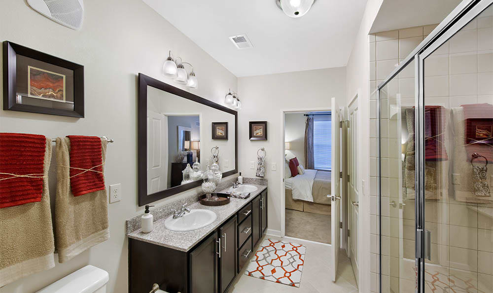 Bathroom At Lane Parke Apartments