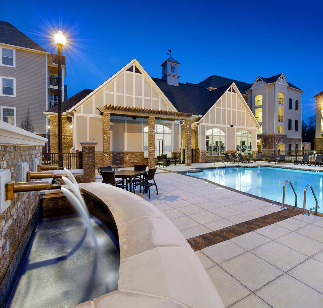 Swimming pool at apartments in Mountain Brook