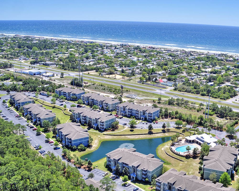 florida coast aerial over The Retreat at PCB