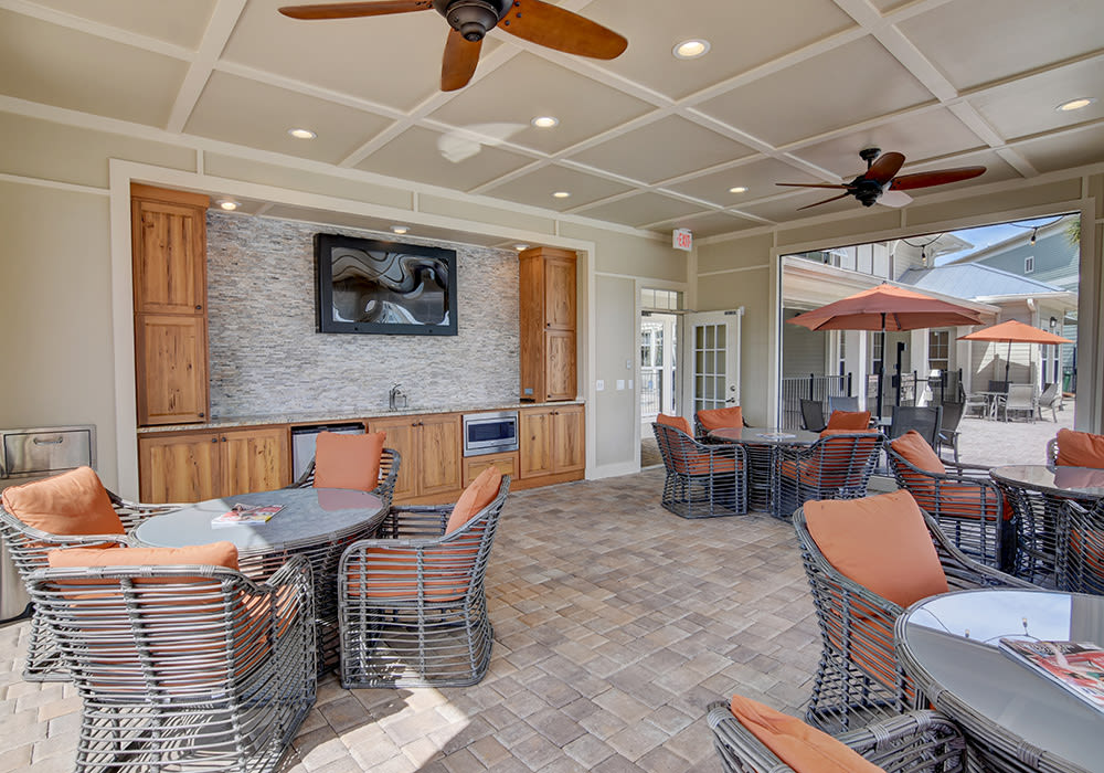 The Retreat at PCB clubhouse interior