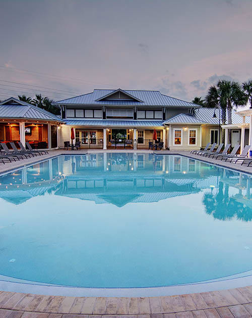 Pool area at The Retreat at PCB in Panama City Beach