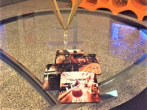 Coasters On A Table At K Avenue Station
