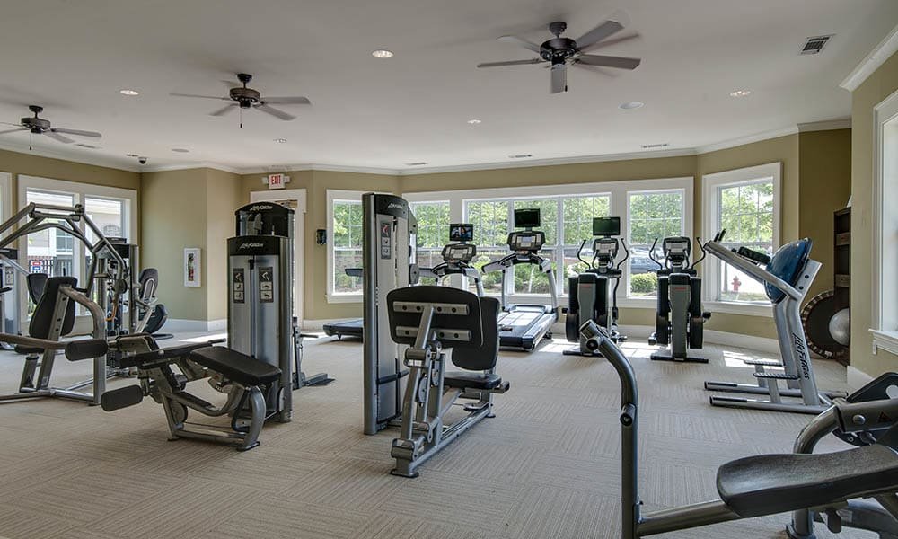 Fitness Area At Legacy at Wakefield In Raleigh