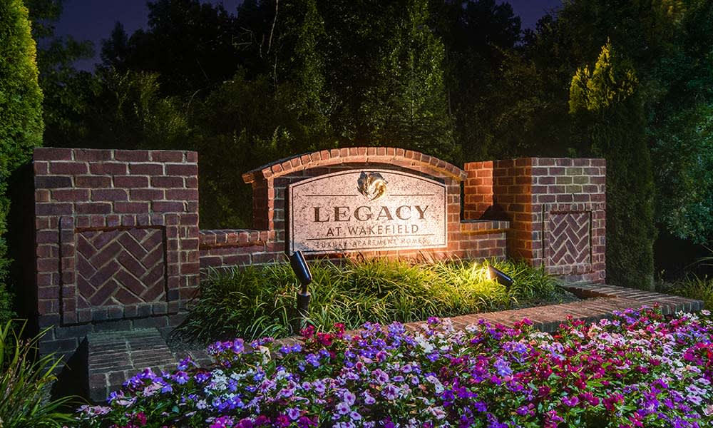 Legacy at Wakefield Front Sign
