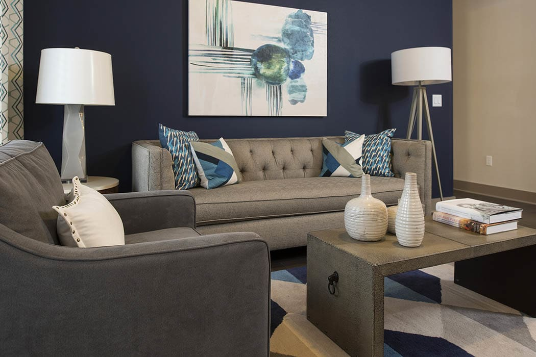living room at Anthem Cityline in Richardson