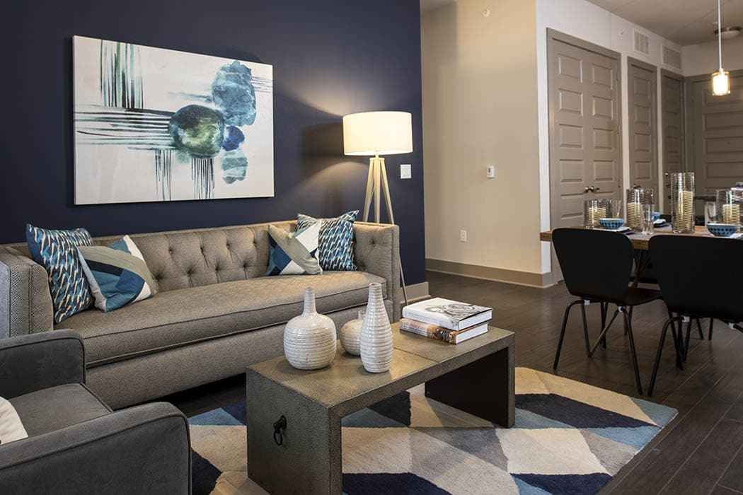 Beautiful living room at Anthem Cityline in Richardson