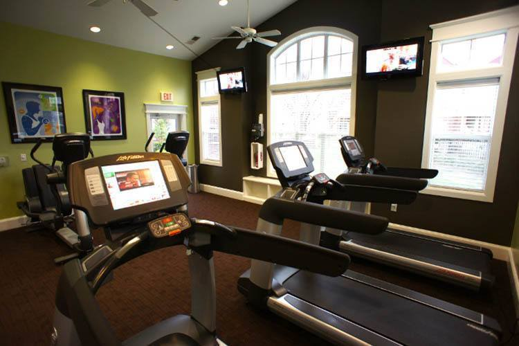 Fitness Area At Preserve at Steele Creek In Charlotte