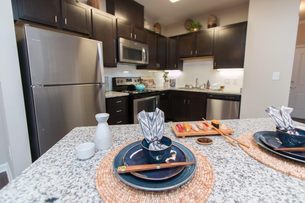 Gourmet kitchen at Parc at Broad River in Beaufort