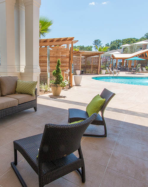 Pool area at Parc at Broad River in Beaufort