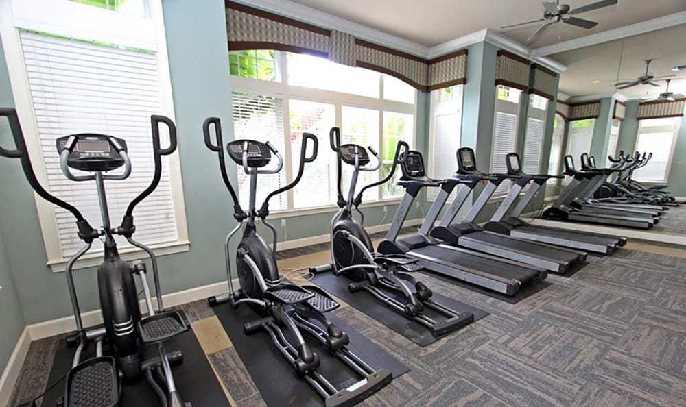On-site fitness center at The Addison in Brandon
