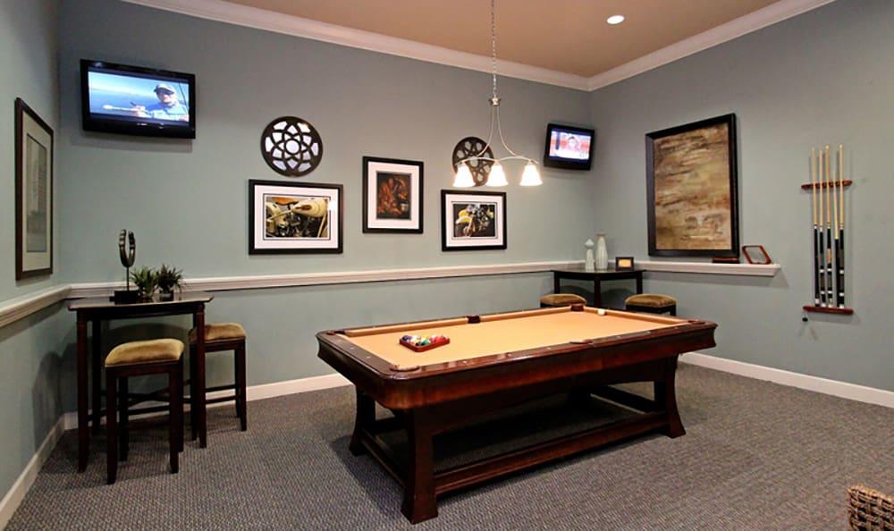 Billiards room at The Addison in Brandon