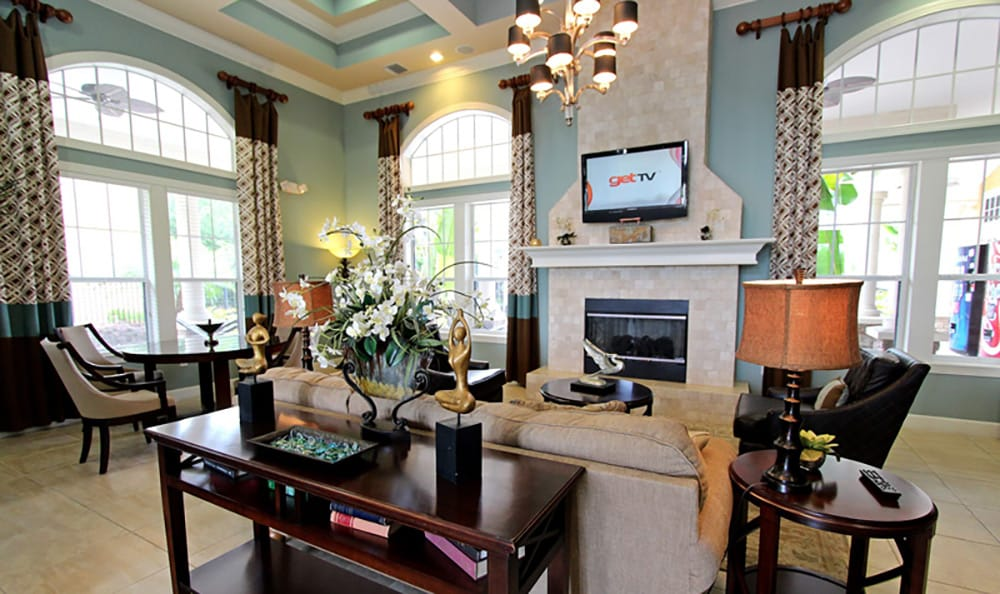 Gorgeous interior view of the clubhouse at The Addison