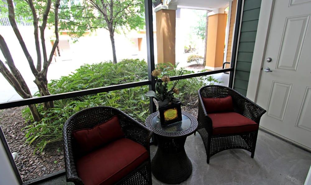 Private patio at The Addison in Brandon