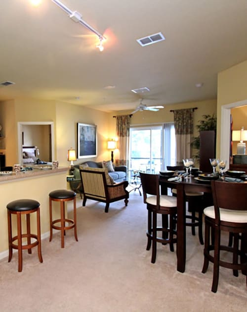 Expansive living room in apartment at The Addison in Brandon