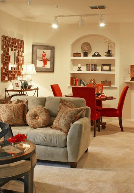 Open floor plans at Courtney Trace in Brandon