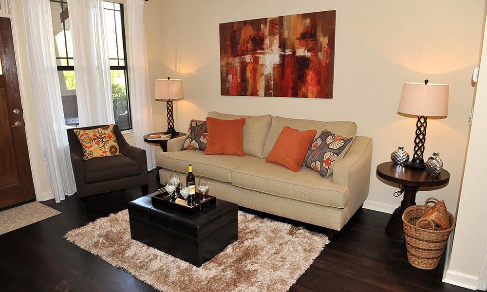 Bright Living Room At The Reserve at Johns Creek Walk