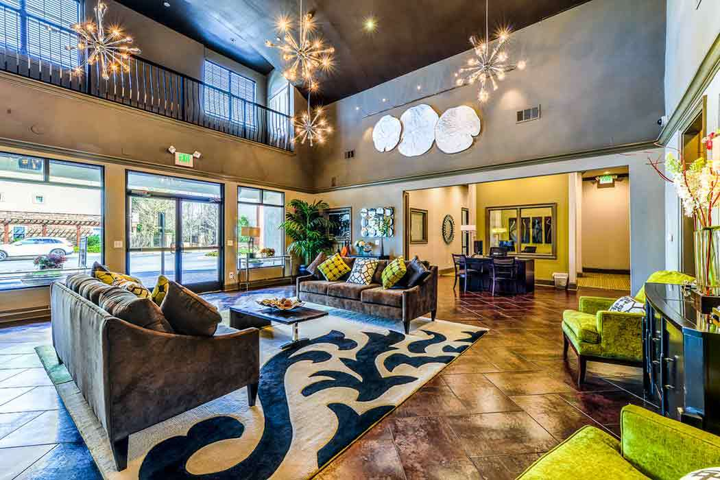 Clubhouse area at The Reserve at Johns Creek Walk in Johns Creek