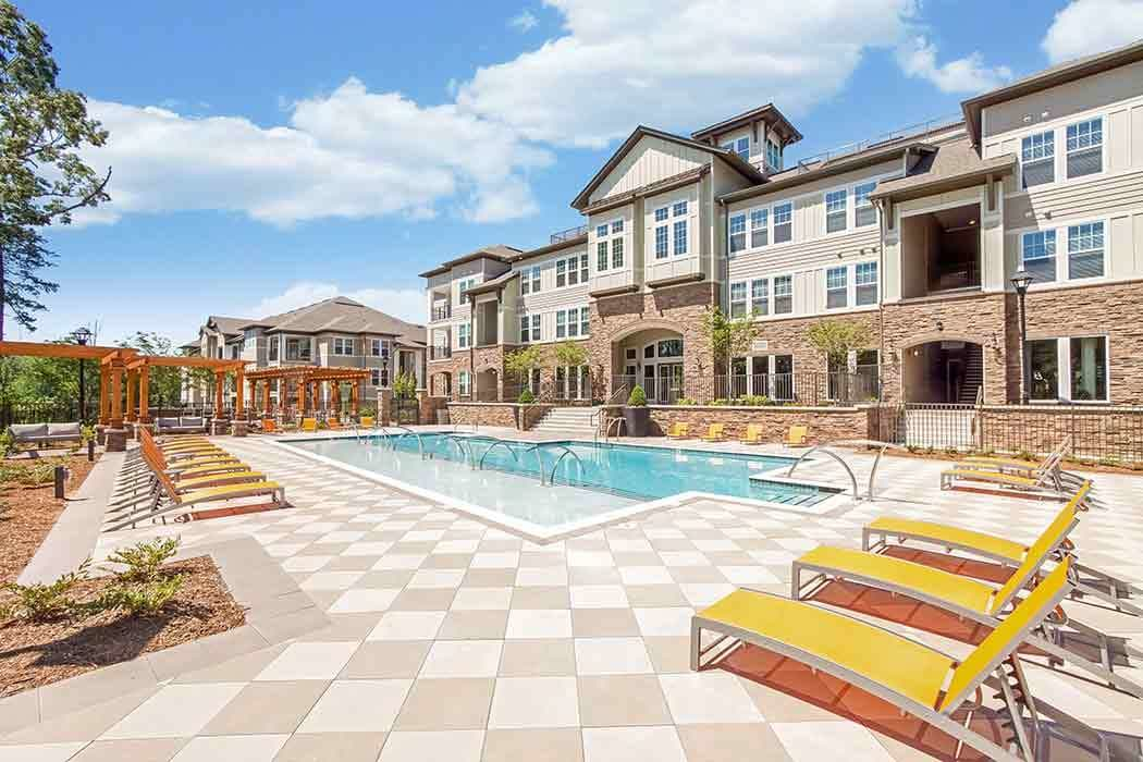 Resort style pool at Brookson Resident Flats in Huntersville
