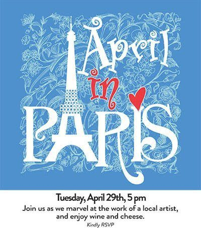April In Paris - activities at Benton House of West Ashley in Charleston, SC