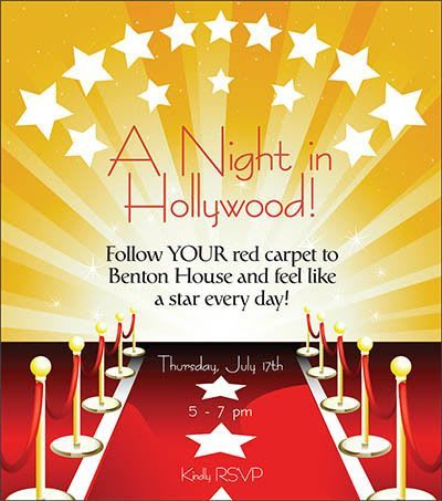 A Night in Hollywood - activities at Benton House of West Ashley in Charleston, SC