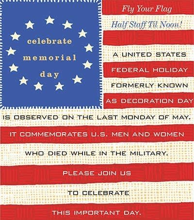 Celebrate Memorial Day - activities at Benton House of West Ashley in Charleston, SC