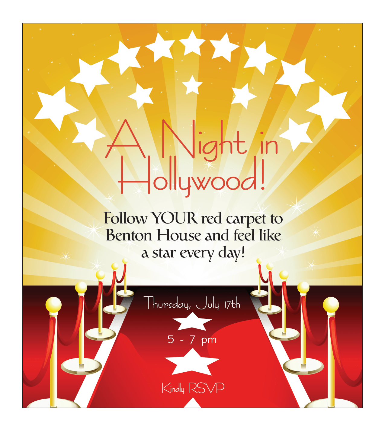 A Night in Hollywood - activities at Benton House of Staley Hills in Kansas City, MO