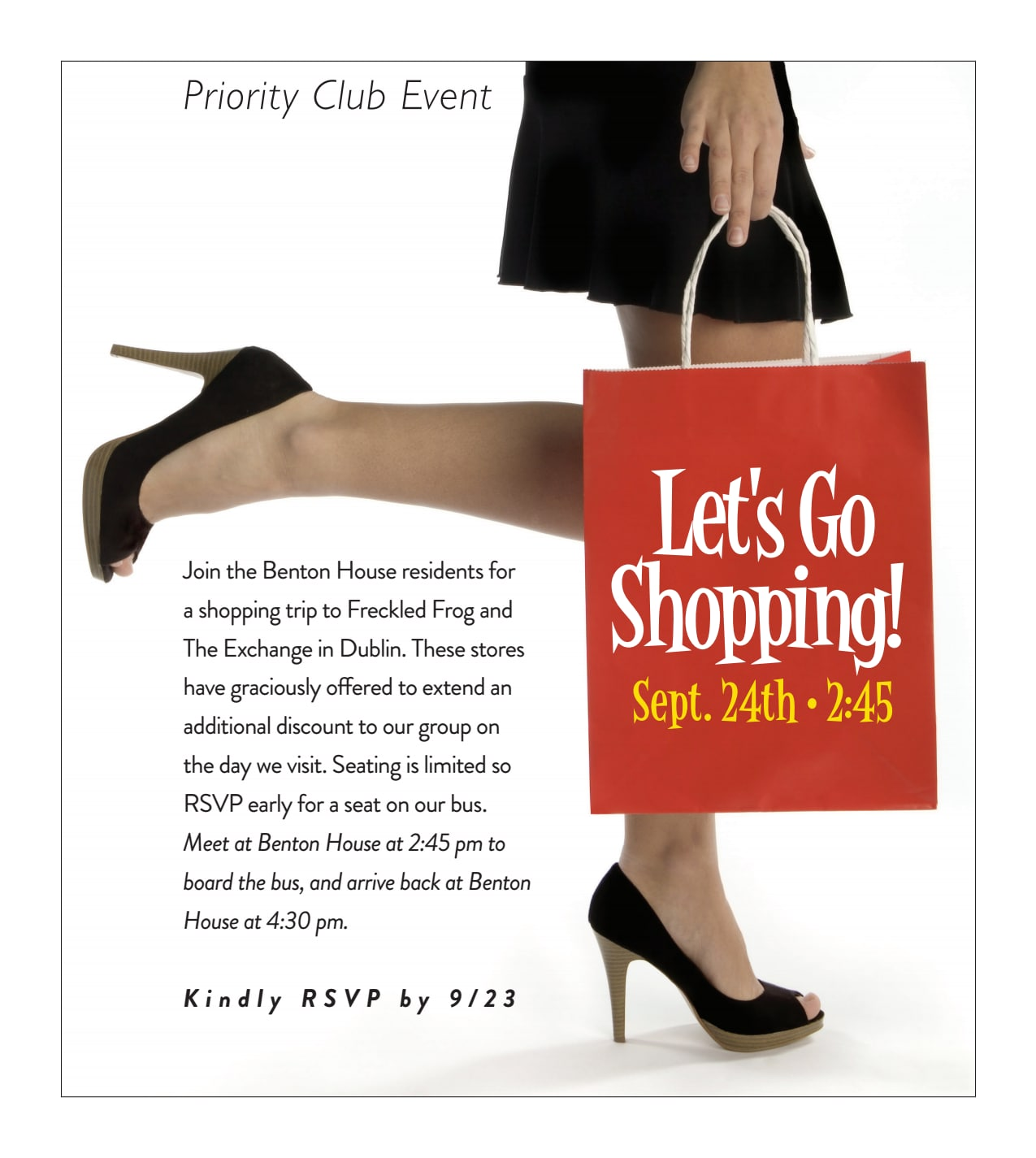 Let's Go Shopping - activities at Benton House of Staley Hills in Kansas City, MO