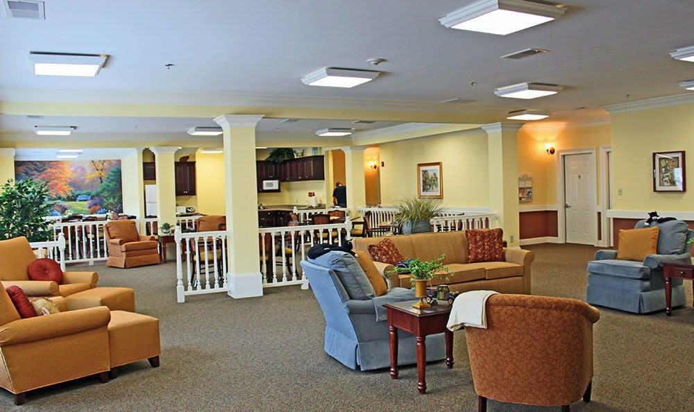 Activities and gathering area at Benton House of Douglasville in Douglasville, GA