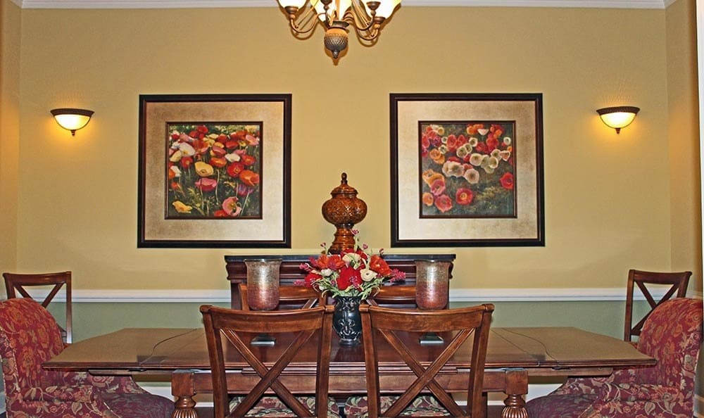 Private dining room at Benton House of Douglasville in Douglasville, GA