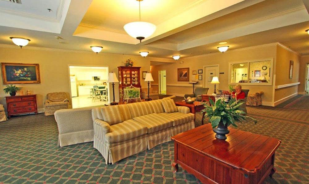 Lobby and meeting area at The Garden House in Anderson, SC