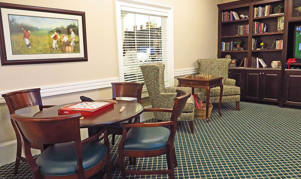 Activities room with study at Benton House of Grayson in Grayson, GA
