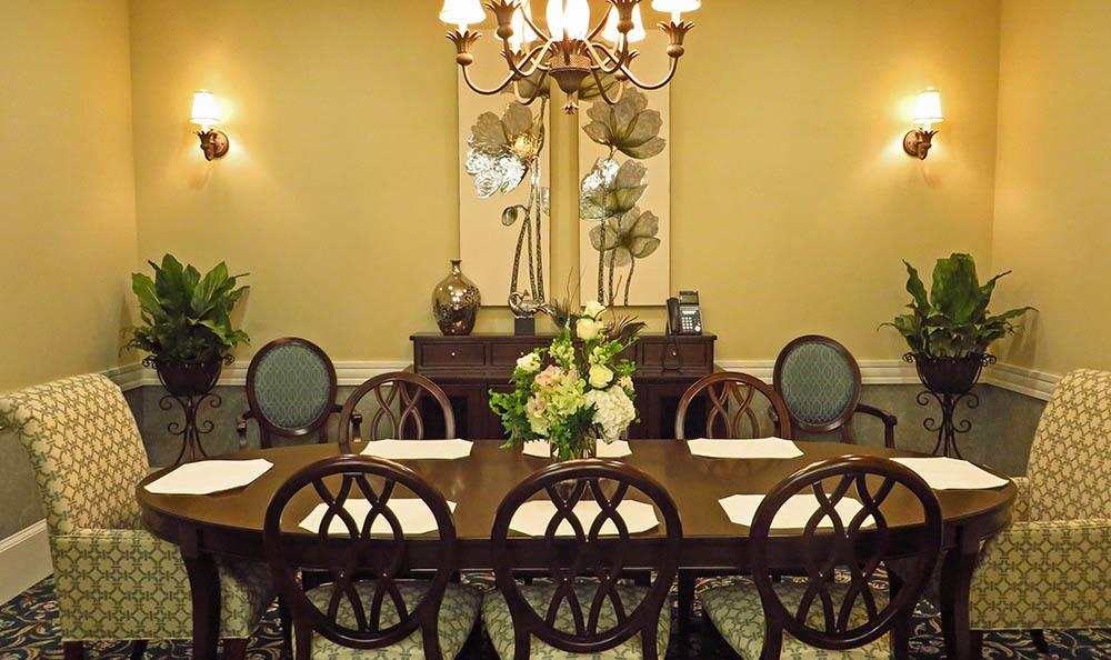 Private dining room at Benton House of Grayson in Grayson, GA
