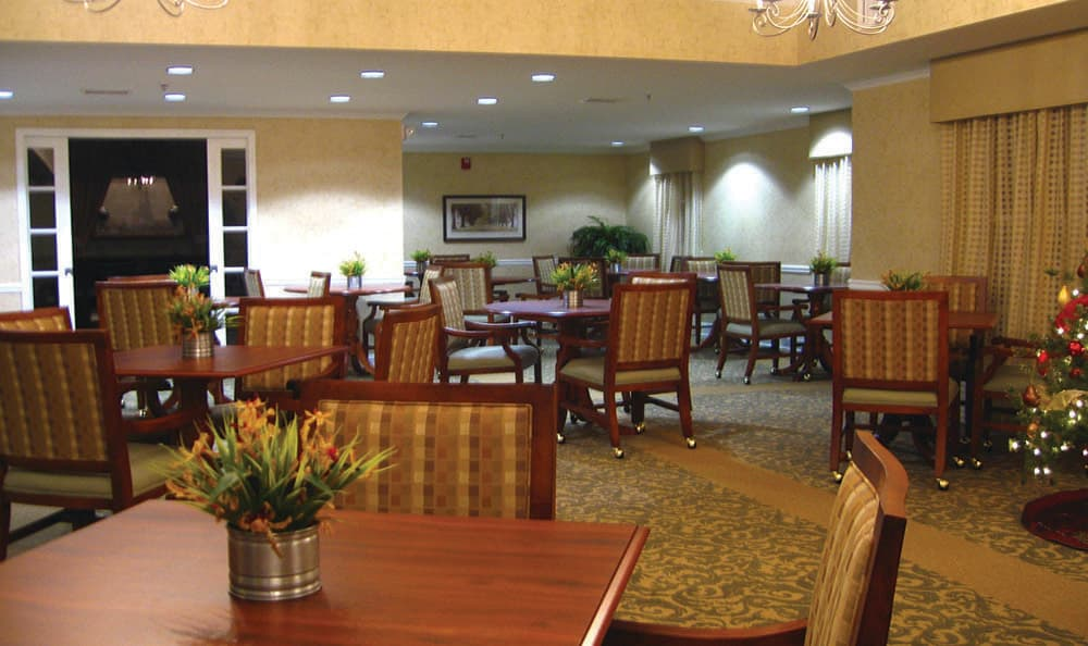 Group dining room at Benton Village of Stockbridge in Stockbridge, GA