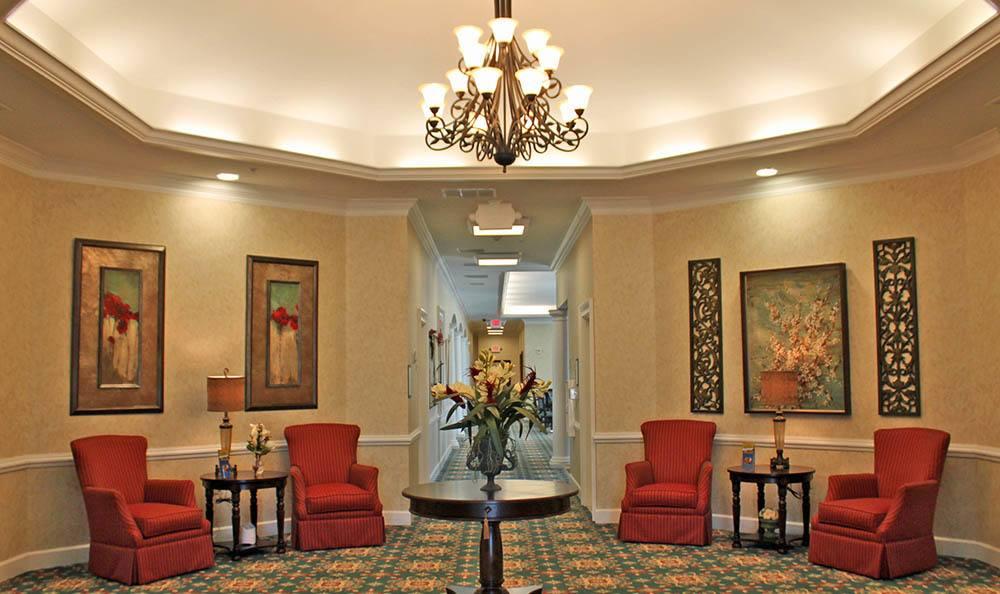 Lobby at Benton House of Sugar Hill in Sugar Hill, GA