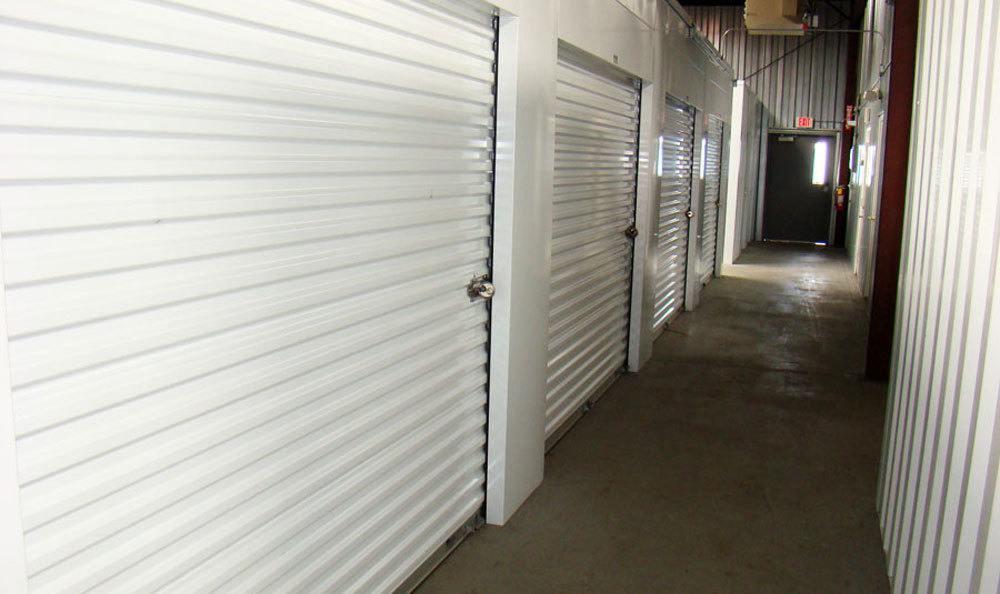 Storage units in the hallway in Winston Salem, NC.