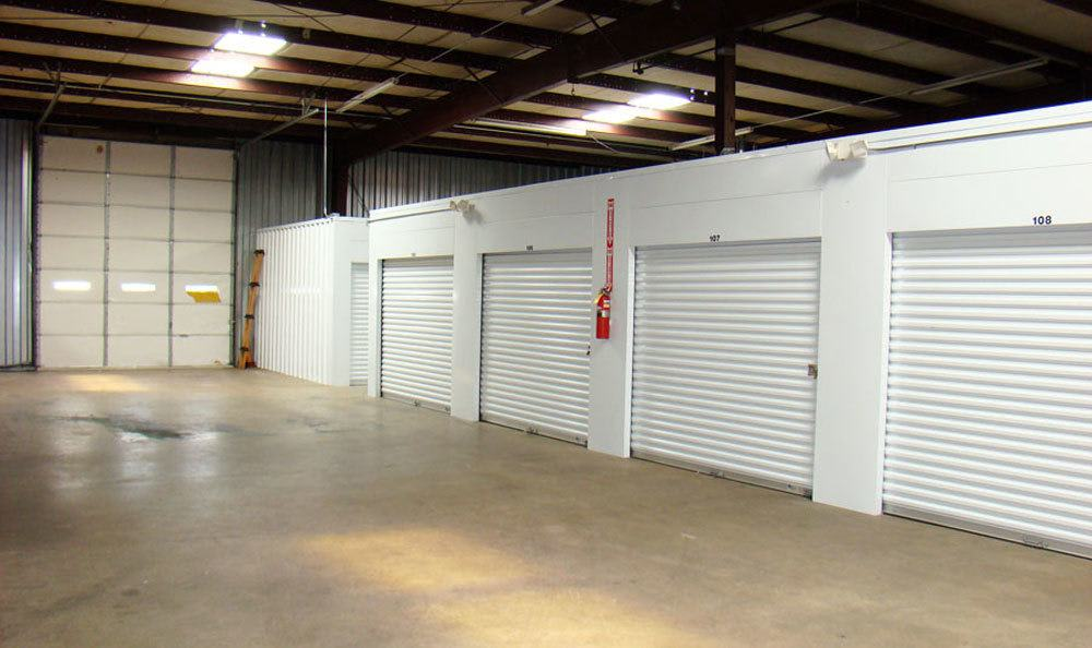 Indoor storage units in Winston Salem, NC.