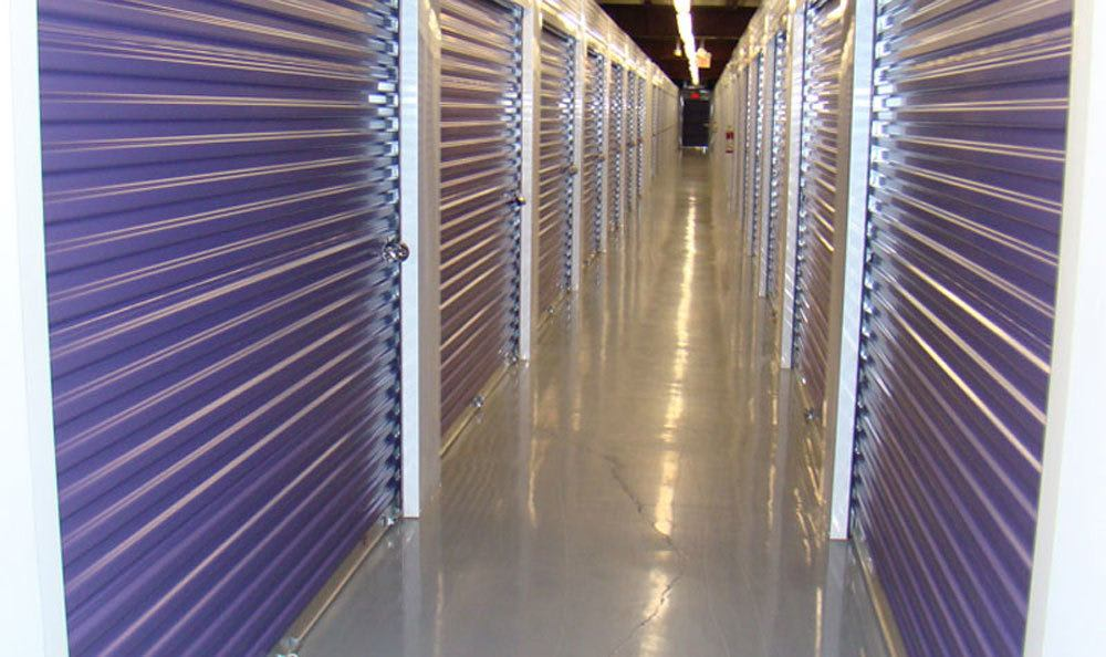 Rows of indoor storage units at Greensboro, NC.