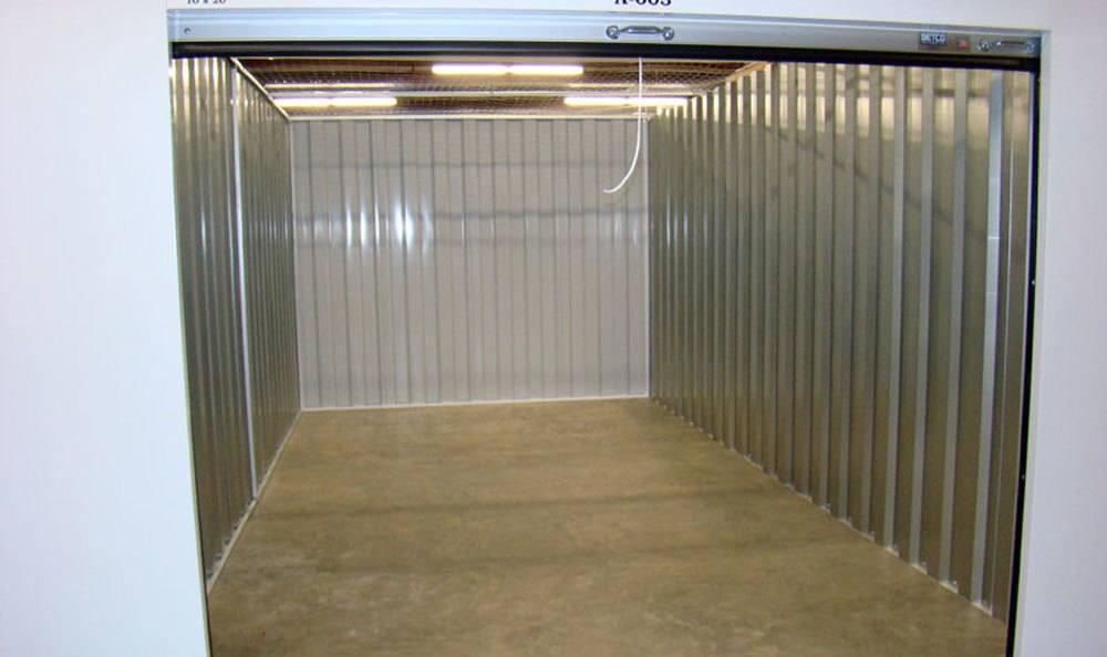 Open storage unit in Greensboro, NC.
