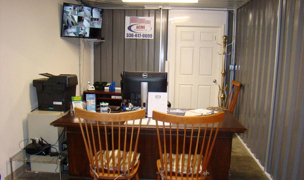 Security office in Greensboro, NC storage units.